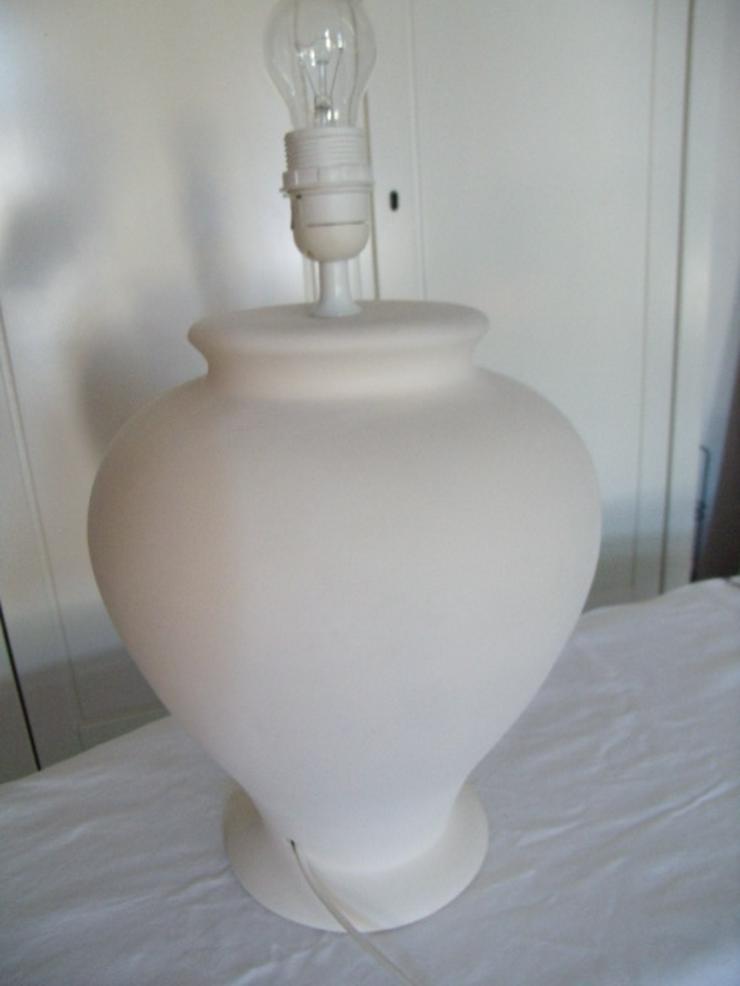 Laura Ashley formschöne Keramiklampe in weiß