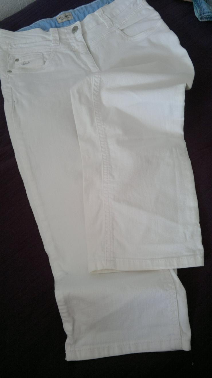 Hübsche Caprijeans weiß