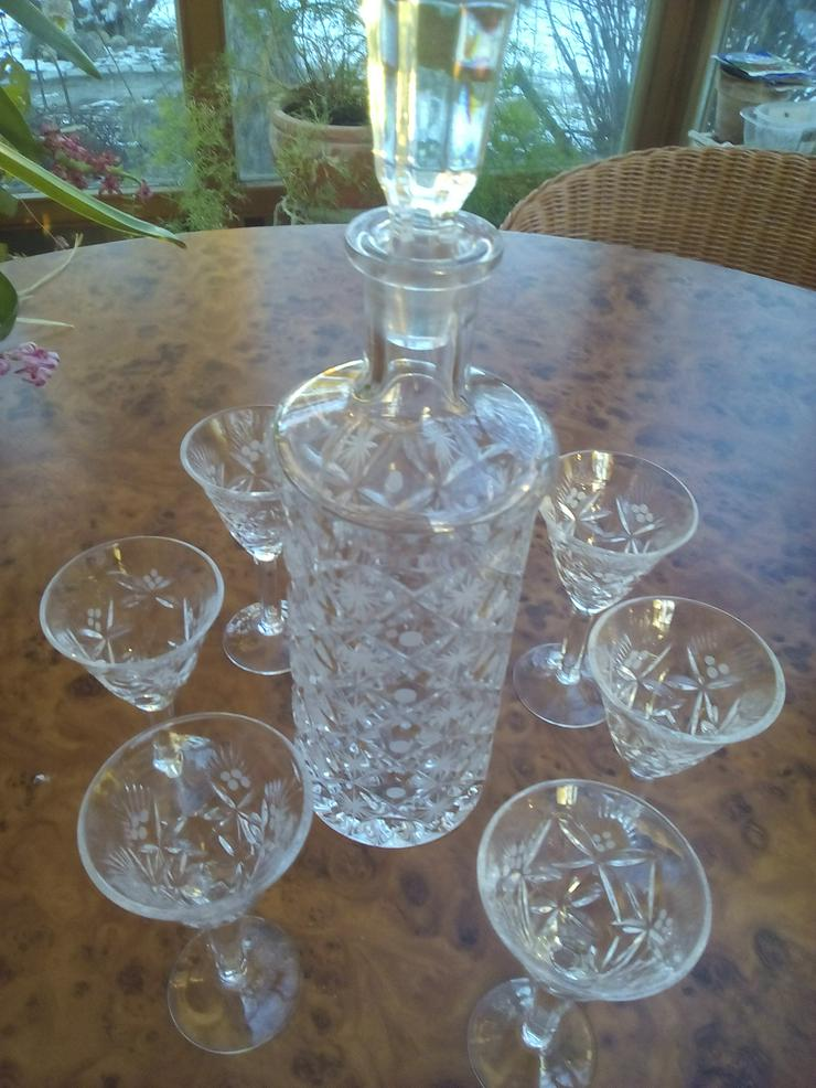 Neues Sherryservice / Likörservice / Likörgläser mit Karaffe 7-tlg. aus Bleikristall     NEU - Gläser - Bild 1