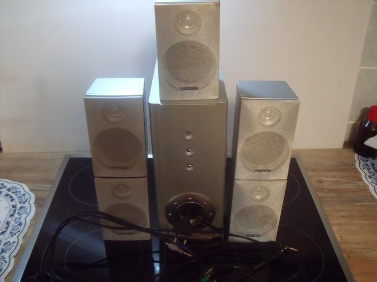 Surround-Sound-System 5.1 Heimkino 180 Watt mit Versterker
