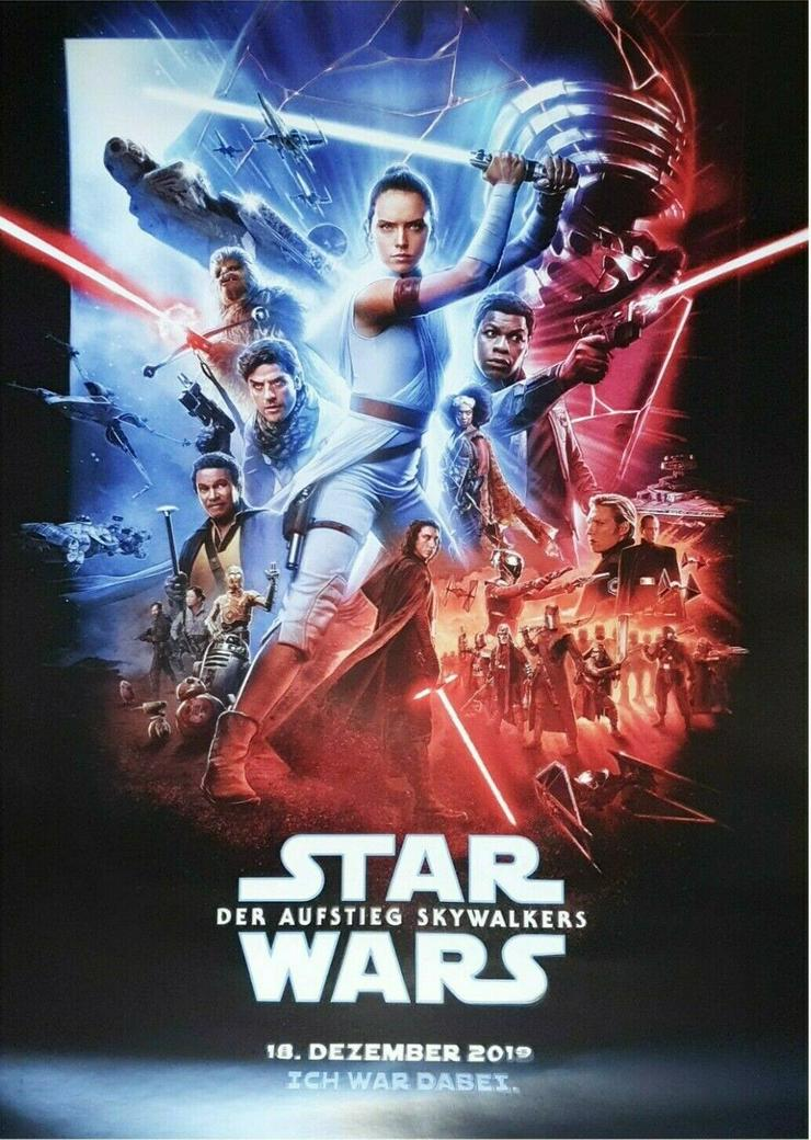 """Plakat zur Premiere : Star Wars 9 - Der Aufstieg Skywalkers - DIN A3 - """"Ich war dabei"""""""