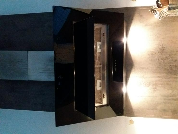 Abzughaube Schwarz/ Glas 90 cm