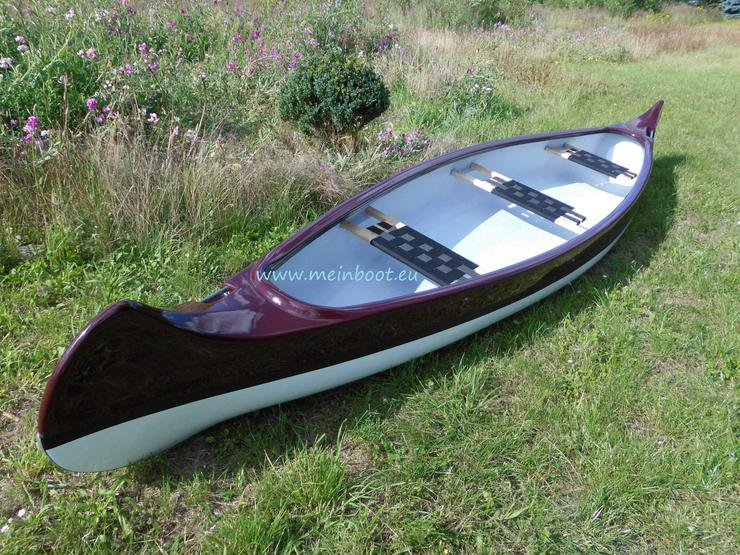 Kanu 3er Kanadier 500 Neu ! in weinrot /weiß - Kanus, Ruderboote & Paddel - Bild 1