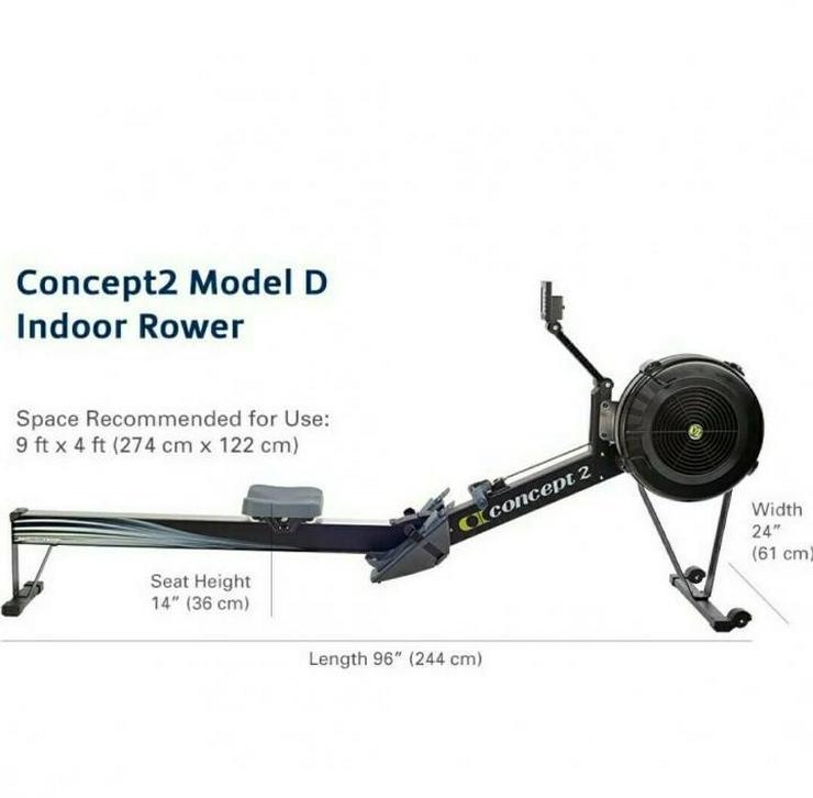Schwarzes Indoor-Rudergerät Concept2 Modell D mit PM5-Leistungsmonitor - Neu