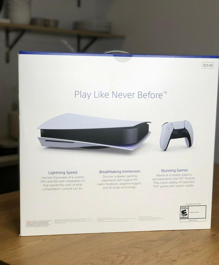 Brandneue ungeöffnete Sony Playstation 5 PS5-Disc-Konsole