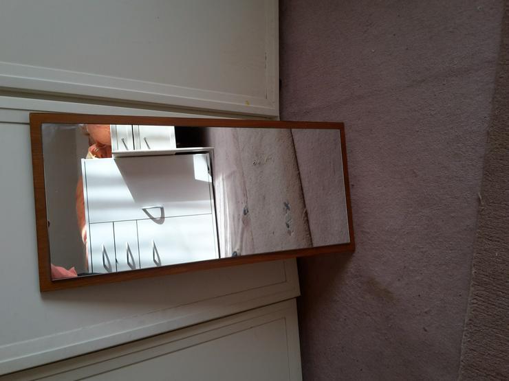 Gardroben-Spiegel Rückwand Nußbaum sehr schwer und gut erhalten