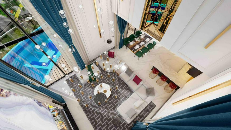 Türkei, Alanya. 7 Zimmer Luxus-Villa. Traumhafte Eleganz, Meerblick. 466
