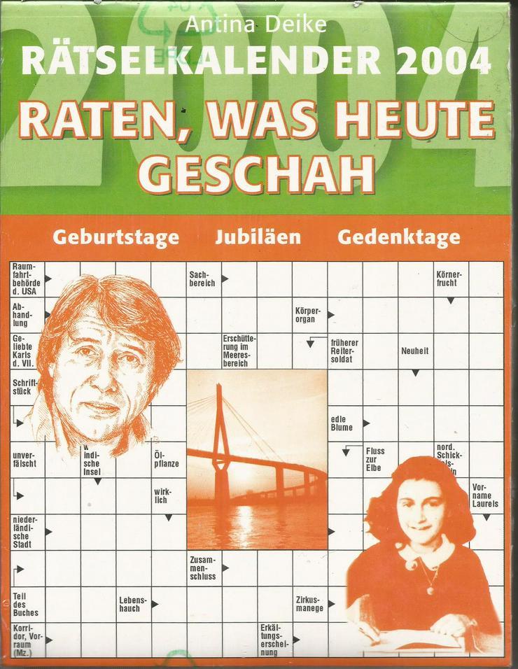 Ostern: Rätselkalender 2004: Kreuzworträtsel+Hobby+Geschichte+Schule+Denksport+Freizeit+Corona+Neu!!!