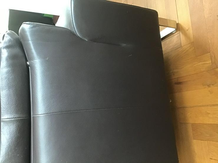 Echtleder Sofa verstellbare Armlehnen Kopfstützen wenig benutzt hochwertig