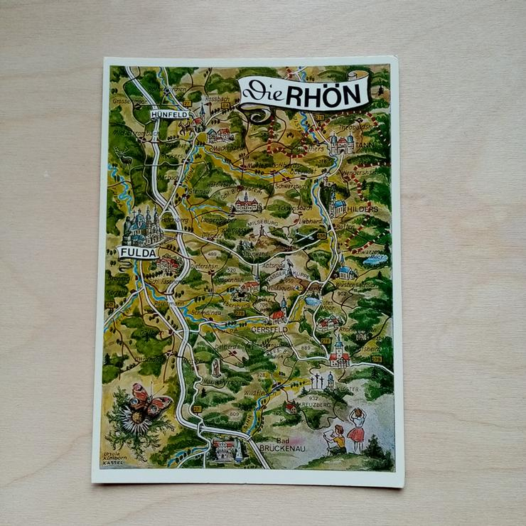 Postkarte. Die Rhön.