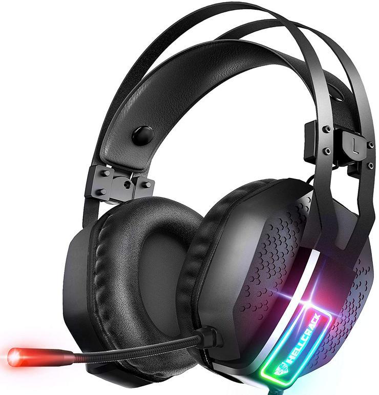Gaming Kopfhörer für Xbox One,PC, PS4, PS5, RGB Geräuschunterdrüc