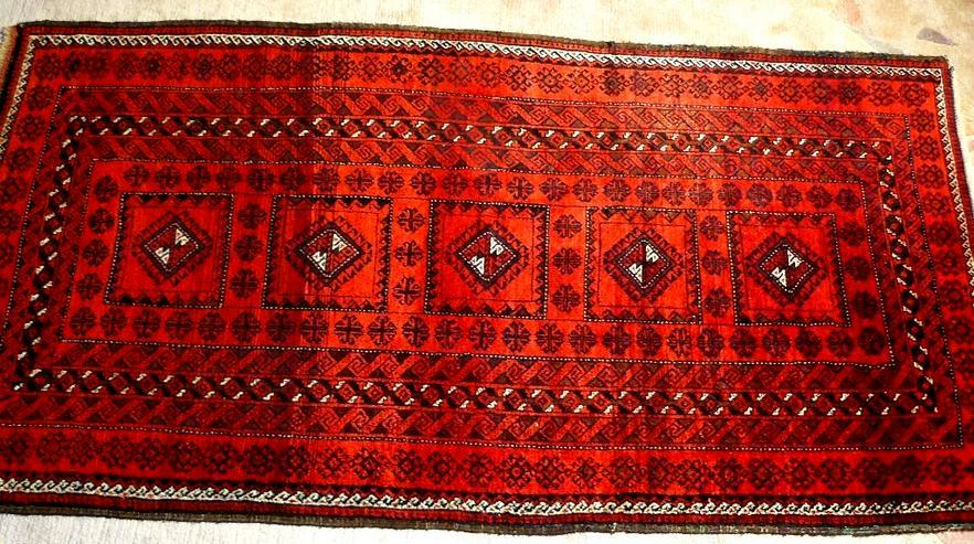 Orientteppich Belutsch Nomadenteppich antik  (T110)