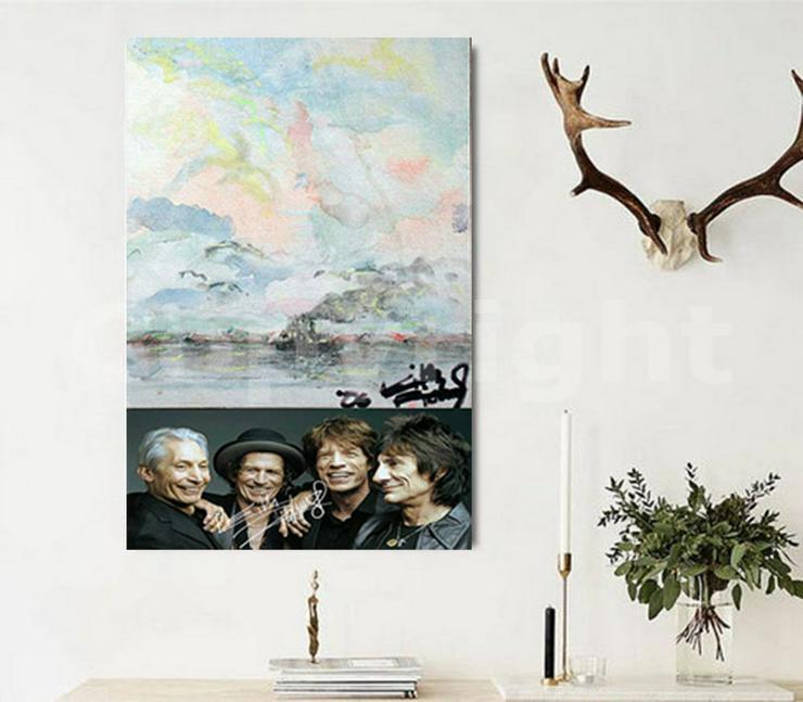 Bild 10: KEITH RICHARDS Kunstwerk 70x50 cm auf Leinwand mit Keilrahmen! Sensationelles Rolling Stones-Souvenir-Geschenk-Andenken-Sammlerstück. NEU!