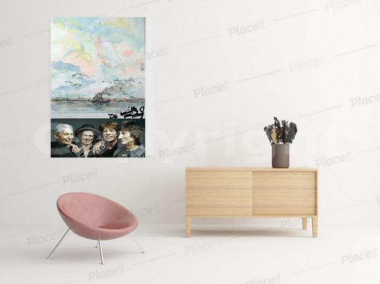 Bild 9: KEITH RICHARDS Kunstwerk 70x50 cm auf Leinwand mit Keilrahmen! Sensationelles Rolling Stones-Souvenir-Geschenk-Andenken-Sammlerstück. NEU!
