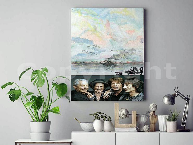 Bild 3: KEITH RICHARDS Kunstwerk 70x50 cm auf Leinwand mit Keilrahmen! Sensationelles Rolling Stones-Souvenir-Geschenk-Andenken-Sammlerstück. NEU!