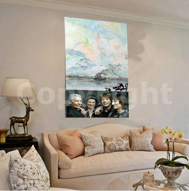 Bild 8: KEITH RICHARDS Kunstwerk 70x50 cm auf Leinwand mit Keilrahmen! Sensationelles Rolling Stones-Souvenir-Geschenk-Andenken-Sammlerstück. NEU!