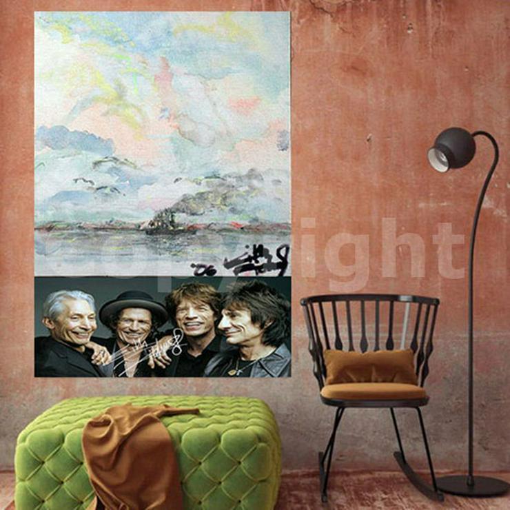 KEITH RICHARDS Kunstwerk 70x50 cm auf Leinwand mit Keilrahmen! Sensationelles Rolling Stones-Souvenir-Geschenk-Andenken-Sammlerstück. NEU!