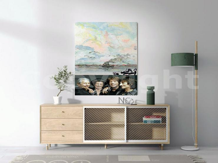 Bild 4: KEITH RICHARDS Kunstwerk 70x50 cm auf Leinwand mit Keilrahmen! Sensationelles Rolling Stones-Souvenir-Geschenk-Andenken-Sammlerstück. NEU!