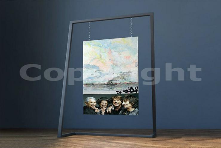 Bild 5: KEITH RICHARDS Kunstwerk 70x50 cm auf Leinwand mit Keilrahmen! Sensationelles Rolling Stones-Souvenir-Geschenk-Andenken-Sammlerstück. NEU!