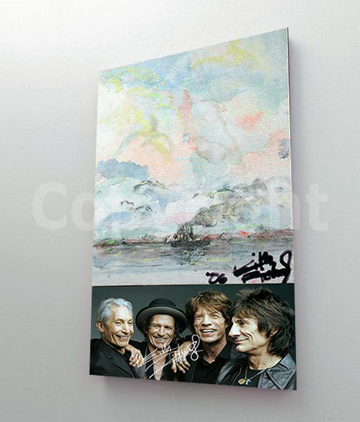 Bild 2: KEITH RICHARDS Kunstwerk 70x50 cm auf Leinwand mit Keilrahmen! Sensationelles Rolling Stones-Souvenir-Geschenk-Andenken-Sammlerstück. NEU!