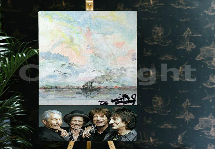 Bild 7: KEITH RICHARDS Kunstwerk 70x50 cm auf Leinwand mit Keilrahmen! Sensationelles Rolling Stones-Souvenir-Geschenk-Andenken-Sammlerstück. NEU!