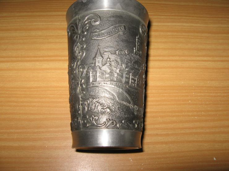 Bild 2: Zinn Becher aus Reinzinn, Handguss, mit Punzzeichen