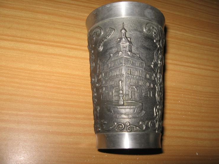 Bild 3: Zinn Becher aus Reinzinn, Handguss, mit Punzzeichen
