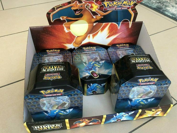 5 x Hidden Fates Tin Box – Garados Gyarados Pokemon Englisch NEU