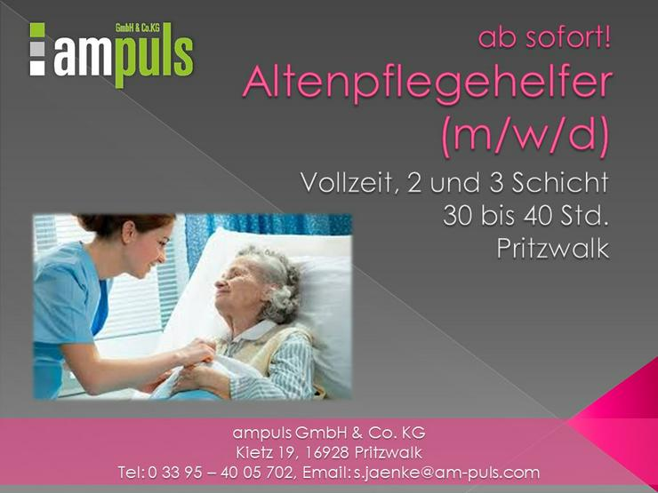 Altenpflegehelfer (m/w/d)