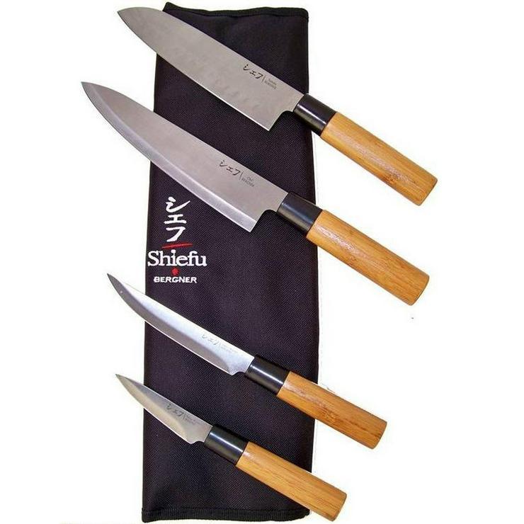 BERGNER® Shiefu Yamashiro Messerset, 9-teilig mit 4 Küchenmessern