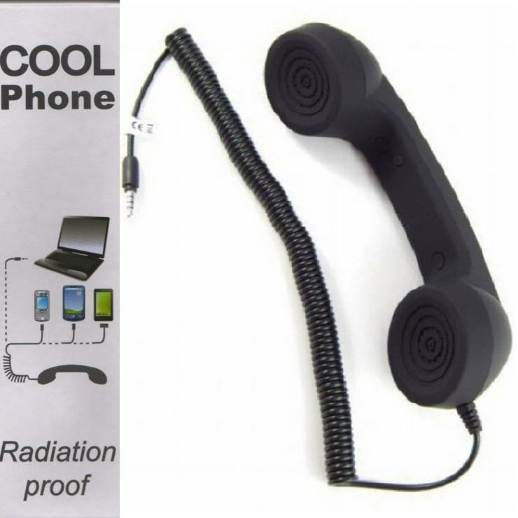 "D-Parts Cool Phone® Design-Telefonhörer/Handset ""Retro"" (schwarz)"