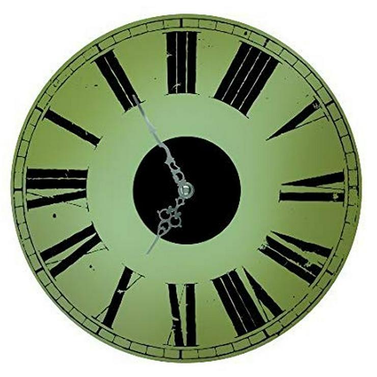 TV Werbung® Deko Bahnhofsuhr Wandschmuck mit echtem Uhrwerk