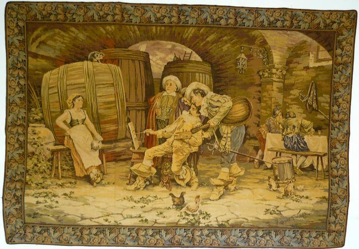 Gobelin Tapisserie Bildteppich antik (G056)