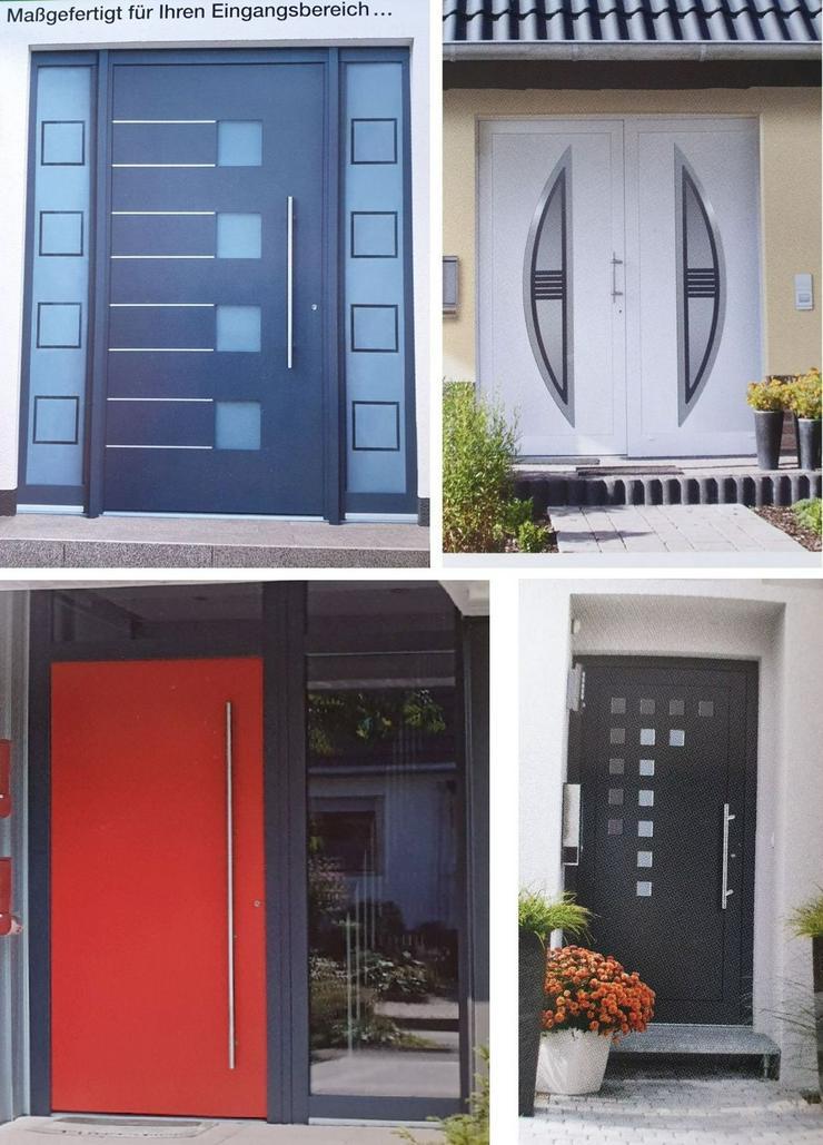 Haustüre: Hauseingangstüren Kunststoffhaustüren Güteklasse A Profil mit Verzinktem Stahlkern aus dt. Produktion
