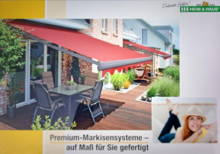 Markise Premium Markisensysteme Gelenkarmmarkise Kassettenmarkise Vario-Markise Nischenmarkise Senkrechtmarkise Seitenmarkise aus dt. Produktion