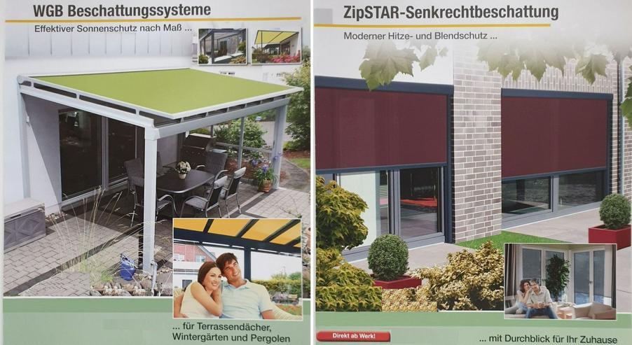 Wintergartenbeschattungsanlagen horizontal / vertikal Textilbeschattung senkrecht oder waagerecht aus dt. Produktion