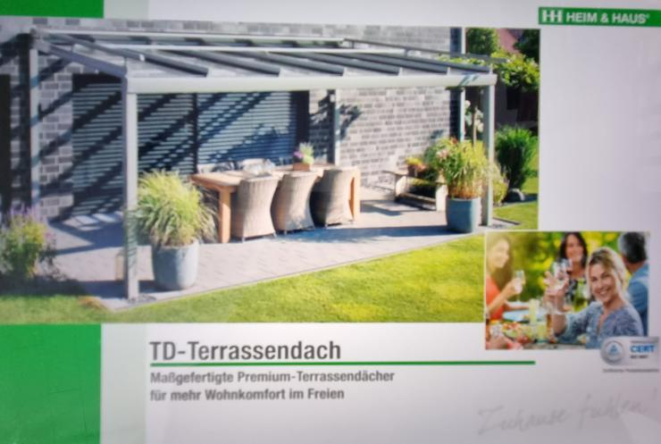 Terrassendach ohne Verglasung  / Sommergarten / Kaltwintergarten mit Verglasung aus dt. Produktion