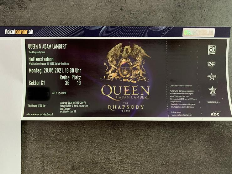 1 Queen & Adam Lambert Sitzplatz K1, 28.06.2022 Zürich
