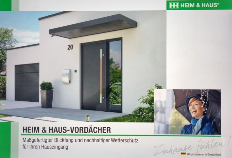 Vordach / Wetterschutzelemente für Hauseingang aus dt. Produktion
