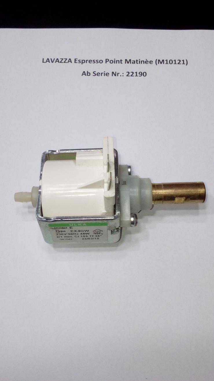 LAVAZZA Espresso Point Matinèe (M10121) Vibrationspumpe (Gebraucht) Ab Serie Nr.: 22190