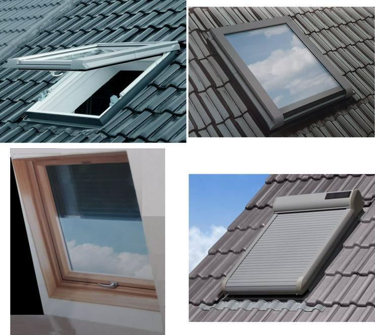 Dachfenster mit ALU-Rollladen Vollkunststoff-Dachfenster mit Dachfensterrollladen aus dt. Produktion