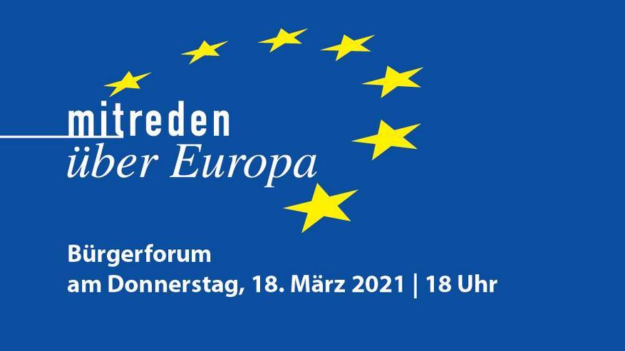 """Online-Bürgerforum """"Mitreden über Europa"""" im Saarland"""