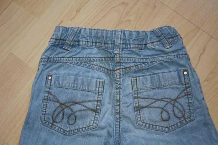 Bild 4: Mädchen Capri Jeans 3/4 Hose Bermuda Shorts Kinder Jeanshose kurz kurze Caprihose C&A blau 122 NEU