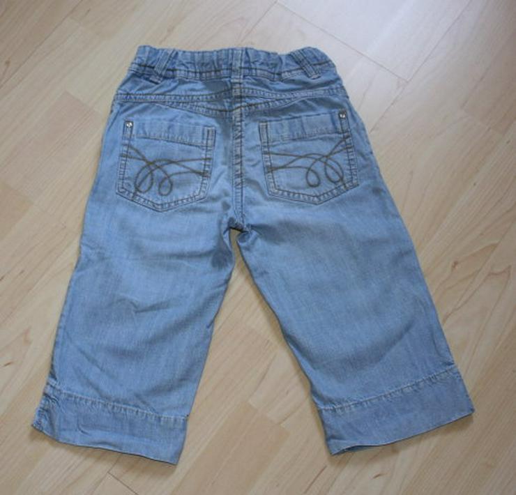 Bild 3: Mädchen Capri Jeans 3/4 Hose Bermuda Shorts Kinder Jeanshose kurz kurze Caprihose C&A blau 122 NEU