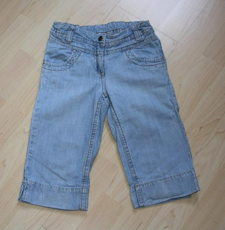 Mädchen Capri Jeans 3/4 Hose Bermuda Shorts Kinder Jeanshose kurz kurze Caprihose C&A blau 122 NEU