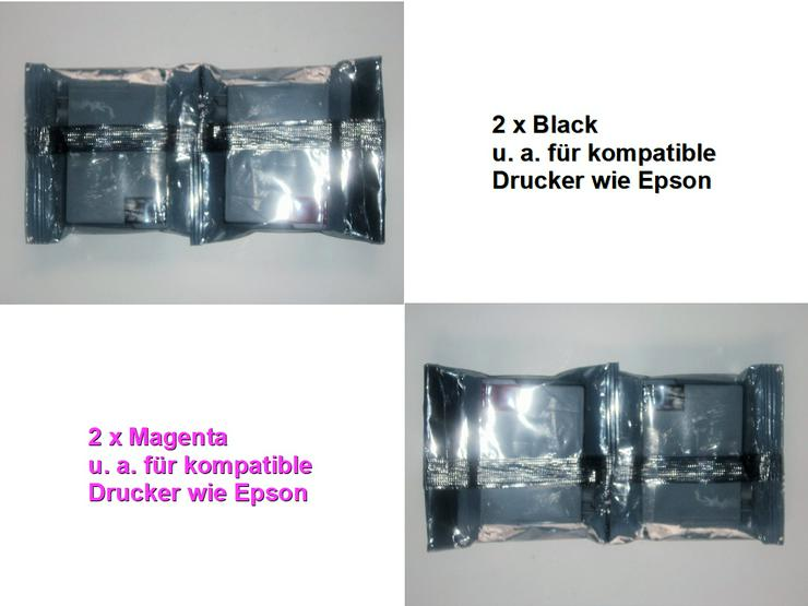 Druckerpatronen Tinte: 2 x Black + 2 x Magenta