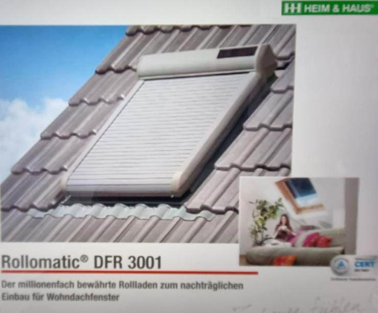 Dachfensterrollladen maßgefertigt mit Solar-/Funkantrieb aus dt. Produktion