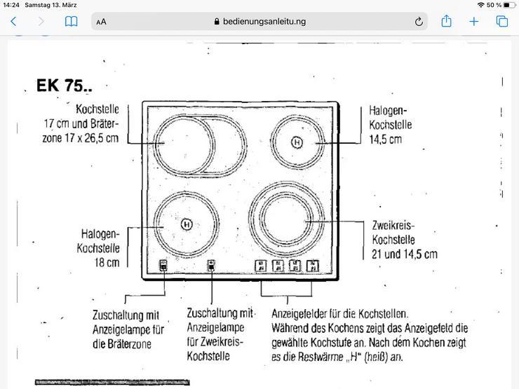 Cerankochfeld von Siemens mit Zuschaltzonen