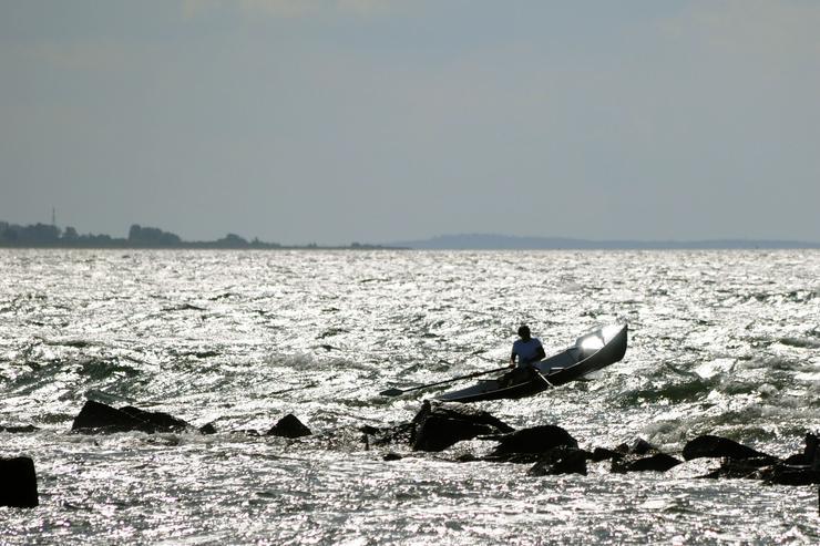 Bild 3: Coastal Surf Rower, Ruderboot mit Rollsitz