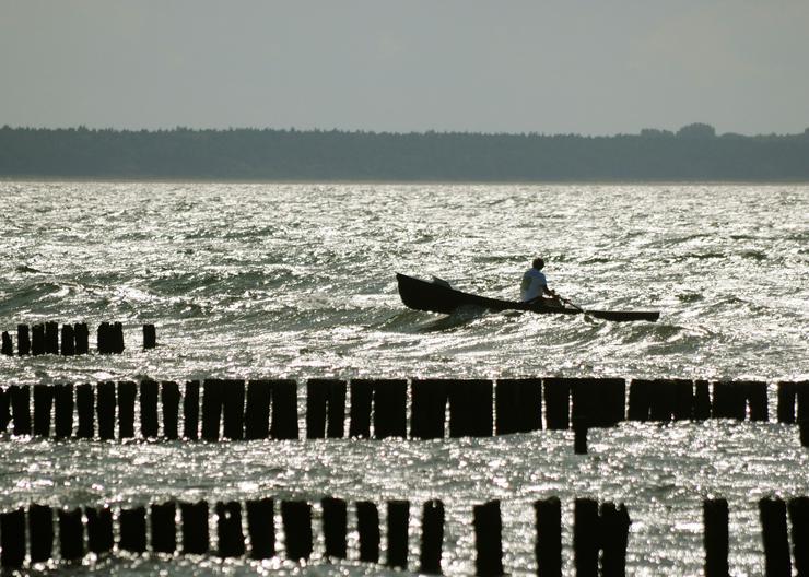 Bild 4: Coastal Surf Rower, Ruderboot mit Rollsitz